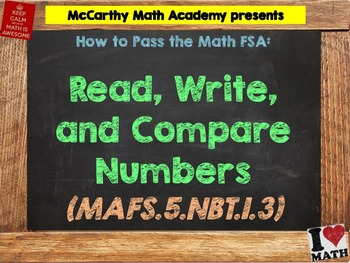 How to Pass the Math FSA - Read, Write, and Compare Decimals - MAFS.5.NBT.1.3