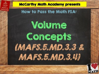 How to Pass the Math FSA - Volume (Cubes) - MAFS.5.MD.3.3 and MAFS.5.MD.3.4