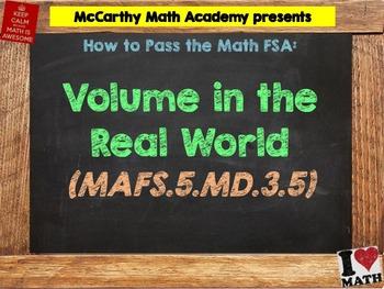 How to Pass the Math FSA - Volume (Real World) - MAFS.5.MD.3.5