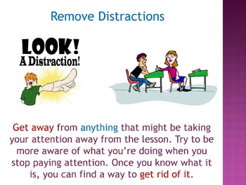 How to Pay Attention at School (PowerPoint)