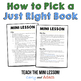 How to Pick a Just Right Book: 5 Finger Rule