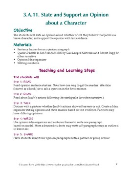 How to Plan, State, and Support an Opinion About a Character