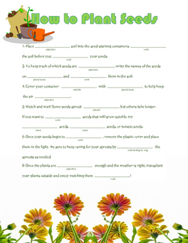 How to Plant Seeds: A Springtime Madlib