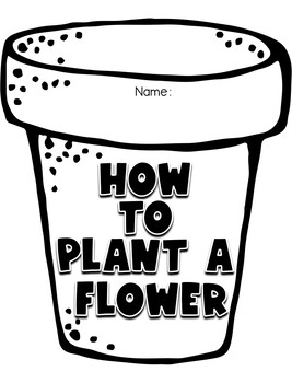 How to Plant a Flower Booklet in English & Spanish