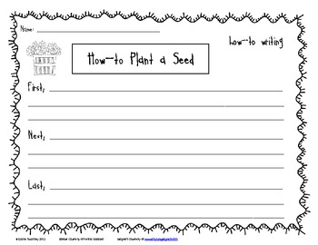 How-to Plant a Seed {Differentiated Writing Pages}