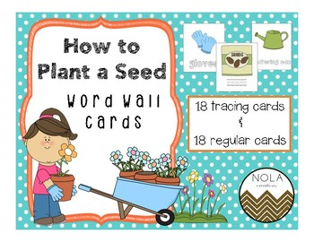 How to Plant a Seed- Word Wall Cards