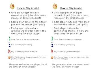 How to Play Dreidel & Dreidel Graph