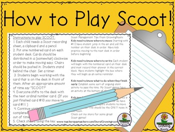 How to Play Scoot - FREEBIE