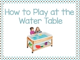 How to Play at the Water Table Social Script