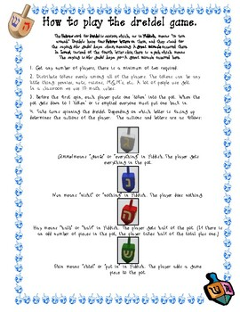 image relating to Dreidel Game Rules Printable named Dreidel Activity Guidance Worksheets Instructors Fork out Academics