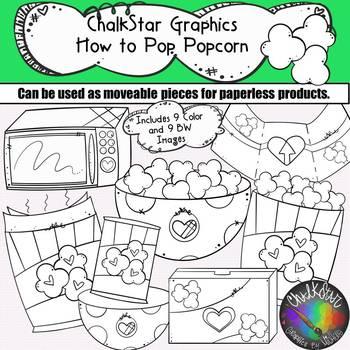 How to Pop Popcorn Clip Art- Chalkstar Graphics