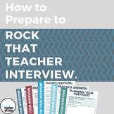 How to Prepare to Rock Your Teacher Interview - Workbook