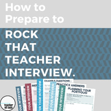 How to Prepare to Rock Your Teacher Interview - Workbook