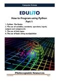 How to Program Using Python - Part 1