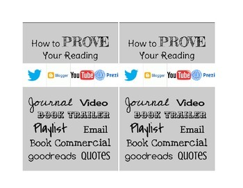 How to Prove Your Reading - Interactive Reading Notebook Printable