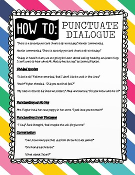 How to Punctuate Dialogue