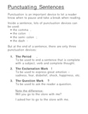 How to Punctuate a Sentence - End Marks Overhead