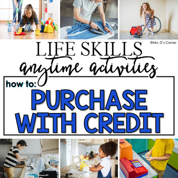 How to Purchase with Credit Life Skill Anytime Activity | Life Skills Activities