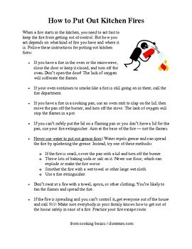 How to Put Out Kitchen Fires Quiz