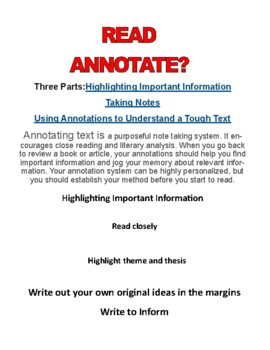 How to READ ANNOTATE and SET-UP S.T.E.M. Articles for science