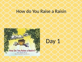 How to Raise a Raisin power point and interactive notebook