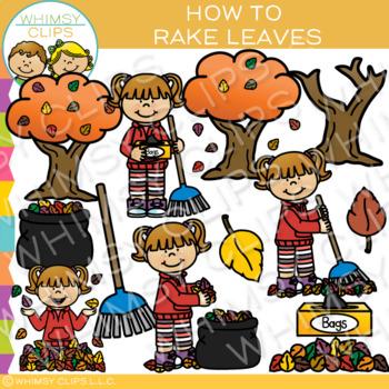 How to Rake Leaves Clip Art