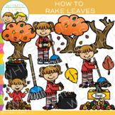 How to Rake Leaves: Sequencing and Fall Clip Art