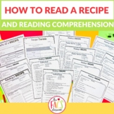How to Read A Recipe and Recipe Comprehension