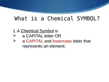 How to Read Chemical Symbols and Chemical Formulas Powerpoint