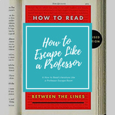 How to Read Literature Like a Professor Escape Room