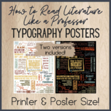 How to Read Literature Like a Professor Typography Posters