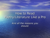 How to Read Poetry Like a Pro