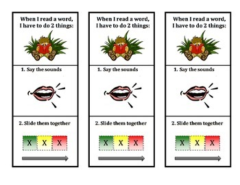 """""""How to Read & Write"""" Bookmark (next step after Phonological Awareness skills)"""