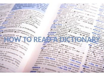 How to Read a Dictionary PowerPoint Presentation