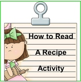 How to Read a Recipe Activity- Cooking with Kids