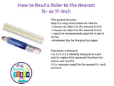How to Read a Ruler to the Nearest 1/2 or 1/4 Inch