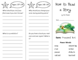 How to Read a Story Trifold - Into Reading 2nd Grade Module 4 Week 1