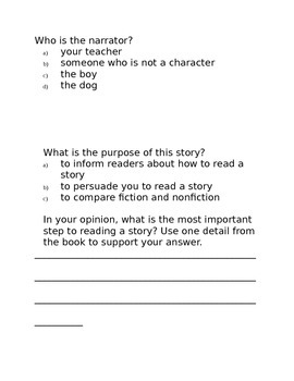 How to Read a Story by Kate Messner- Think A Loud Lesson