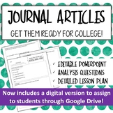 How to Read an Academic Journal Article : A Lesson for Res