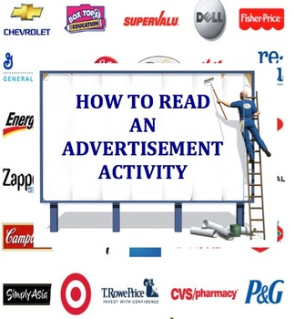 How to Read an Advertisement Activity/Quiz - RL.8.2.