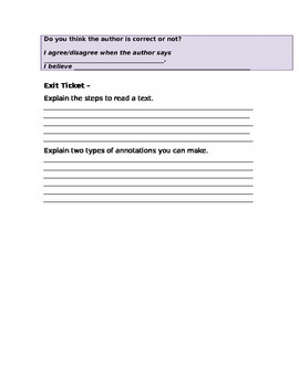 How to Read and Annotate texts
