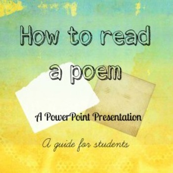 How to Read and Appreciate Poetry Powerpoint