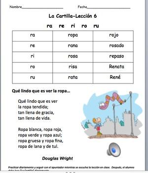 How to Read in Spanish! La Nueva Cartilla  PowerPoint Audio L-2 lessons 6-10