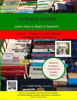 How to Read in Spanish! La Nueva Cartilla PowerPoint w/Audio L-2 lessons 1-5