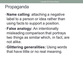 How to Recognize Propaganda and Faulty Logic