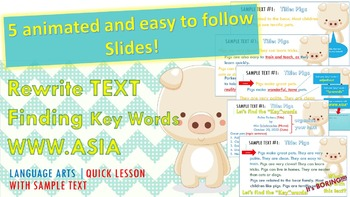 How to Rewrite a Text - ***Mini lesson*** Time saver!