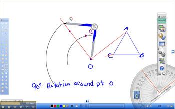 How to Rotate a Geometric Figure around a point.