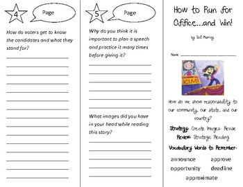 How to Run for Office...and Win! Trifold - 3rd Grade Literacy by Design Theme 14