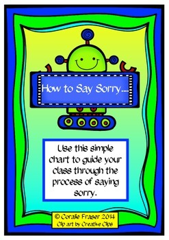 'How to Say Sorry' Poster Freebie