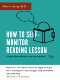How to Self-Monitor Reading Lesson (4-7 Grade)